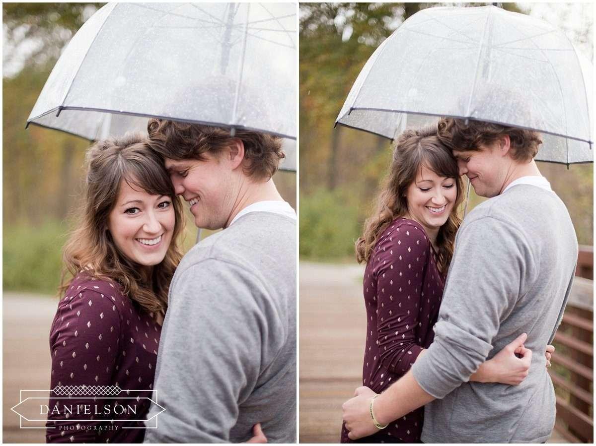 rainy day engagement session in Coralville, Iowa City wedding photographer, Iowa City engagement photos, Cedar Rapids wedding photographer