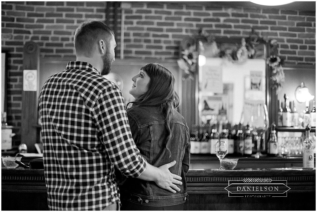 Engagement session and wine tasting at Galena Cellars Winery in Galena, IL.