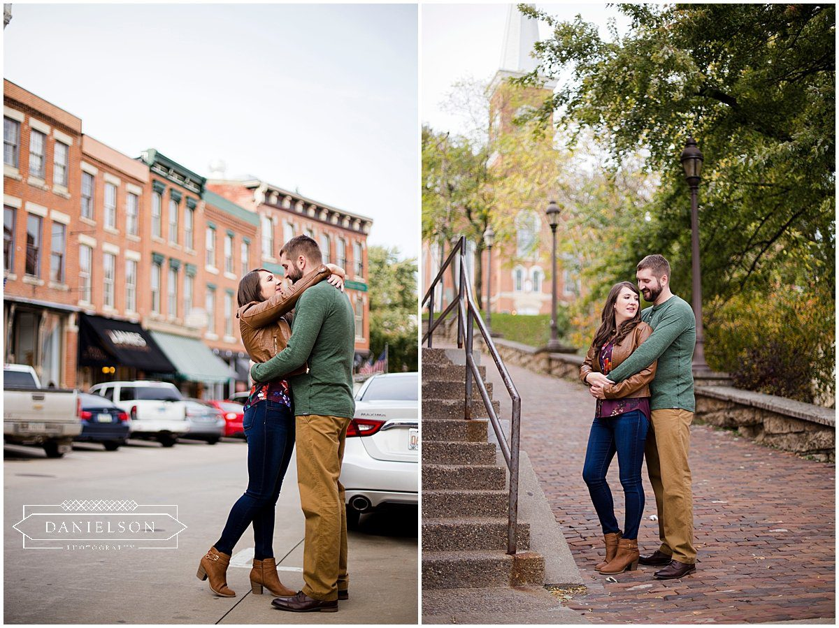 Engagement session in downtown Galena, IL.
