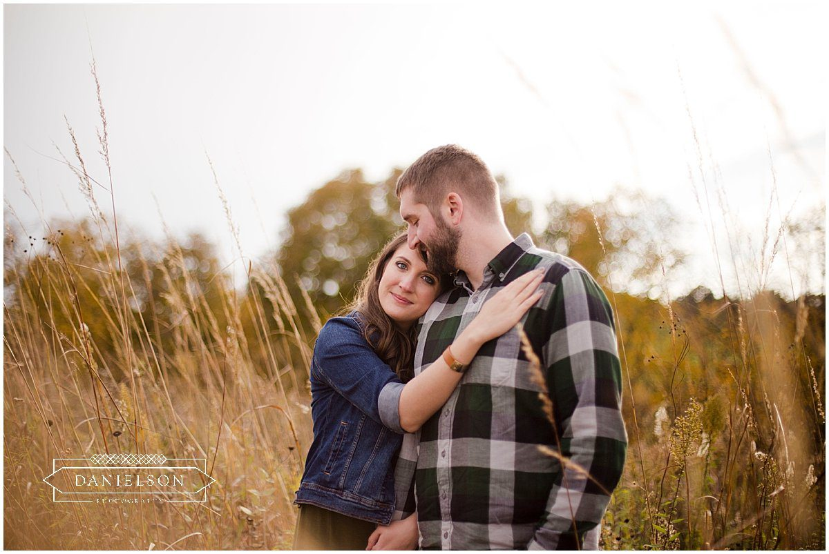 Engagement session in the countryside of Galena, IL.