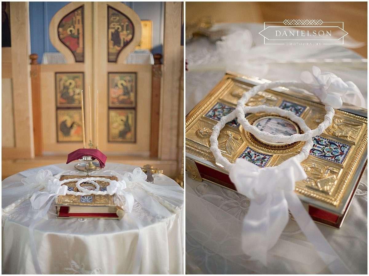 Orthodox wedding ceremony details, St. Raphael Orthodox Church in Iowa City, iowa city wedding photographer, cedar rapids wedding photographer