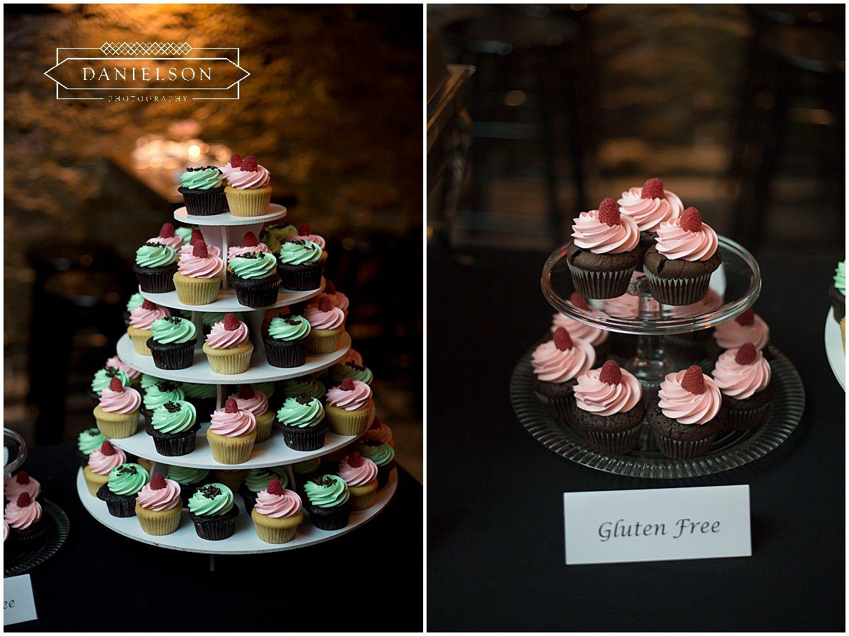 Cupcakes set up downstairs at St. Burch Tavern in Downtown Iowa City