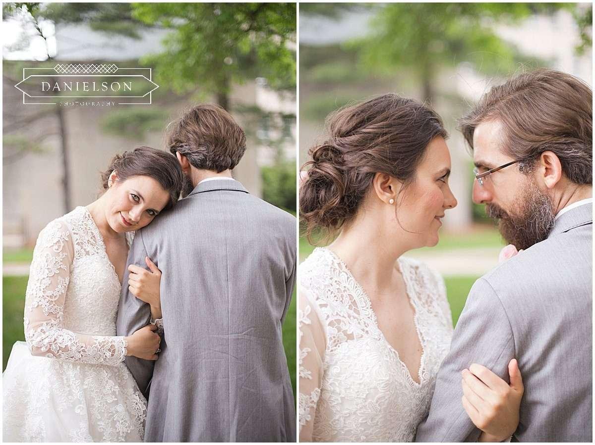 Bride and groom portraits in downtown Iowa City, Iowa City wedding photographer